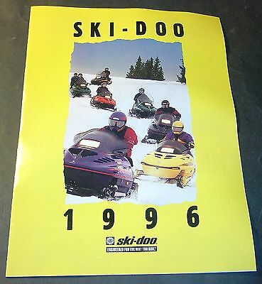 1996 Ski-Doo Snowmobile Sales Brochure 8 Pages   (541)