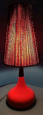 "Chalvignac 26"" Dramatic Mid Century Modern Red & Black Ceramic Table Lamp"
