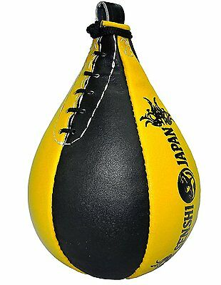Senshi Real Cowhide Leather Speed Ball Boxing Interval Training MMA Heavy Duty