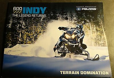 2013 Polaris 600 Indy Snowmobile Sales Brochure 4 Pages   (521)