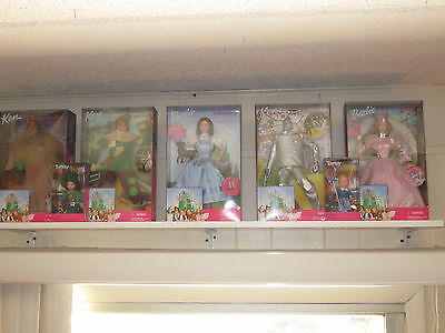 The Wizard Of Oz Barbie, Ken & Tommy 7 Doll Lot