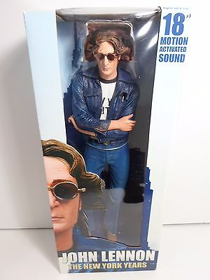 """John Lennon Neca The New York Years 18"""" Motion Activated Sound Figure New In Box"""