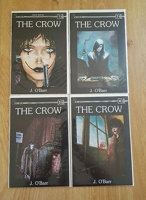The Crow #1-4 ==  Nm 1St Appearance Of The Crow Caliber Press 1989