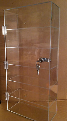 "Acrylic Countertop Display Case 12""x 6.5"" x23.5""Locking Case"