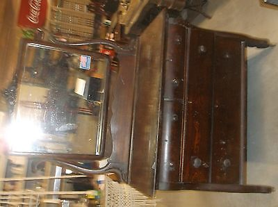 2 Late 1800's Early 1900's Wishbone Mirror Dressers Need Refinished Furniture