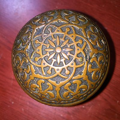 Antique Fancy Victorian Cast Brass Doorknob Door Knob #B
