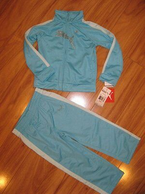 NWT Girls Puma BLING Track Suit - Turquoise 12 mo & 18 mo - 14.99