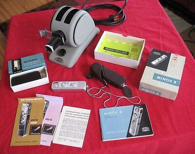 Minox B Subminature Camera and Matching Projector Excellent Condition