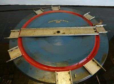 Hornby Series 0 Gauge Turntable 1920/30's Blue With Red Lining