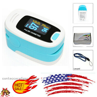 US OLED Finger Tip Pulse Oximeter SPO2 PR Blood Oxygen Heart Rate Monitor+ Pouch