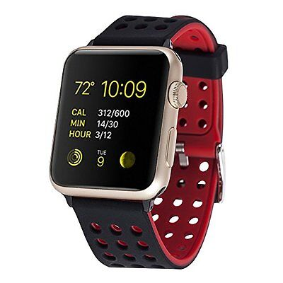 Smart Watch Band Strap Fashion 42mm Black Red for Apple Watch Series 2 Sport
