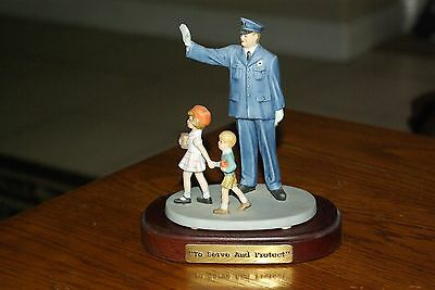 """Norman Rockwell The Saturday evening post collection """"The Policeman"""" Figurine"""