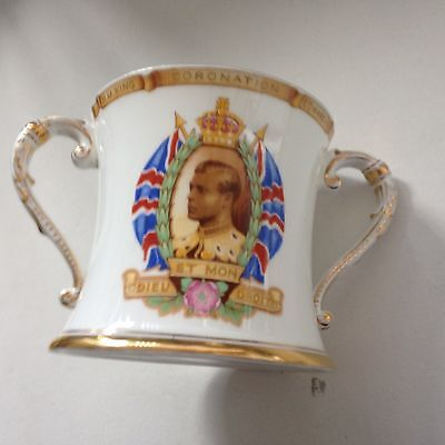 A Magnificent Shelley 1937 Edward VIII Coronation Loving Cup