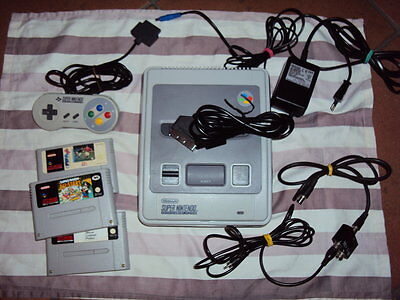 Supernintendo Console+Rgb Cable+Tv Cable+Pad+Games, Snes