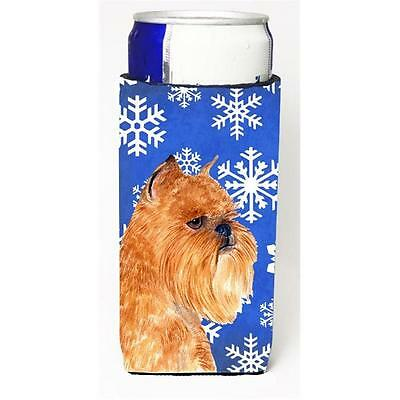 Brussels Griffon Winter Snowflakes Holiday Michelob Ultra bottle sleeves for ...