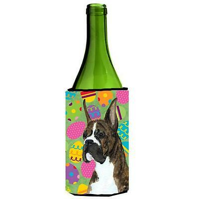 Carolines Treasures Boxer Easter Eggtravaganza Wine bottle sleeve Hugger 24 Oz.