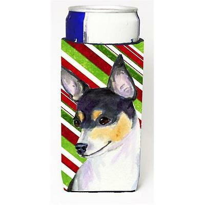 Chihuahua Candy Cane Holiday Christmas Michelob Ultra bottle sleeves For Slim...