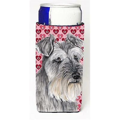 Schnauzer Hearts Love and Valentines Day Portrait Michelob Ultra bottle sleev...