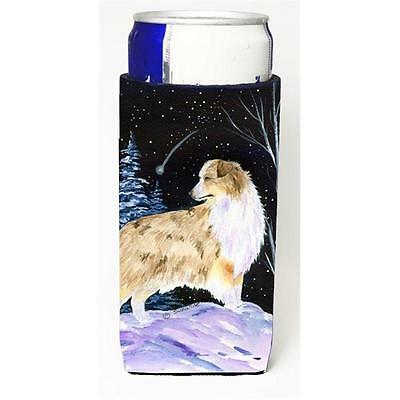 Starry Night Australian Shepherd Michelob Ultra bottle sleeves For Slim Cans ...