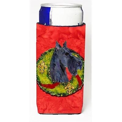 Scottish Terrier Cristmas Wreath Michelob Ultra bottle sleeves For Slim Cans