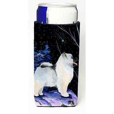 Starry Night Keeshond Michelob Ultra bottle sleeves For Slim Cans