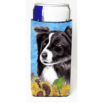 Carolines Treasures Border Collie Michelob Ultra bottle sleeves For Slim Cans