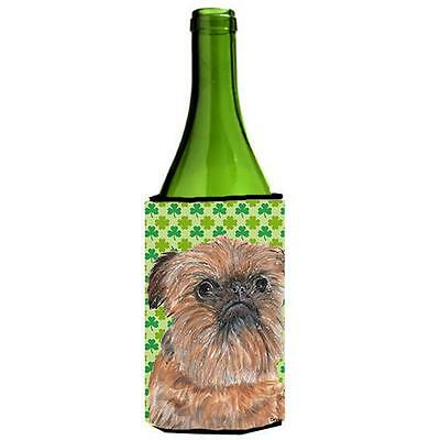 Brussels Griffon St Patricks Irish Wine bottle sleeve Hugger 24 oz.