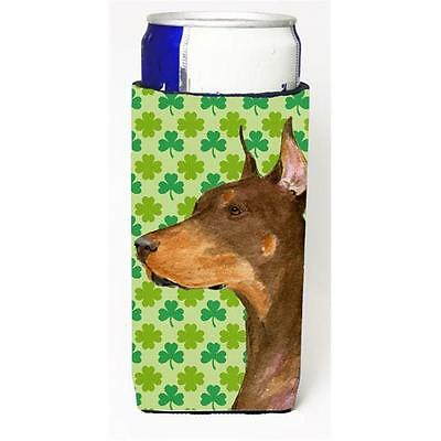 Doberman St. Patricks Day Shamrock Portrait Michelob Ultra bottle sleeves for...