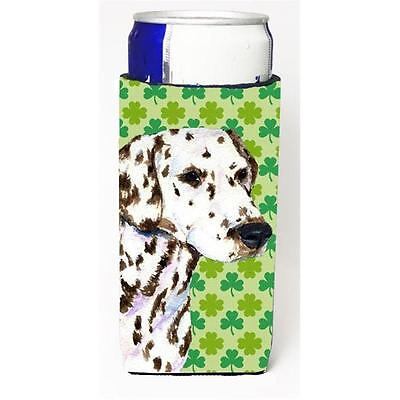 Dalmatian St. Patricks Day Shamrock Portrait Michelob Ultra bottle sleeves fo...
