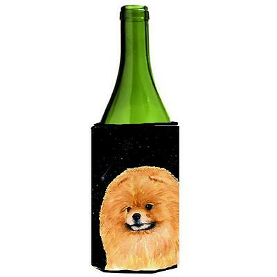 Carolines Treasures Starry Night Pomeranian Wine bottle sleeve Hugger 24 oz.