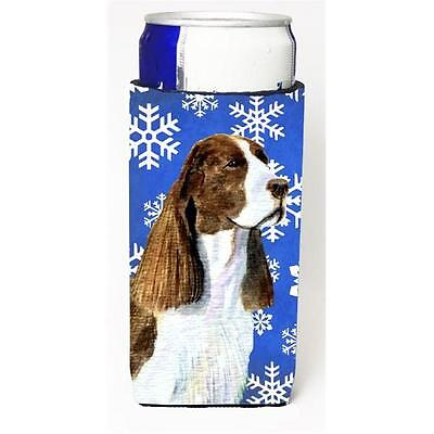 Springer Spaniel Winter Snowflakes Holiday Michelob Ultra bottle sleeves For ...