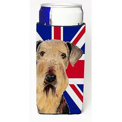 Airedale With English Union Jack British Flag Michelob Ultra bottle sleeves F...