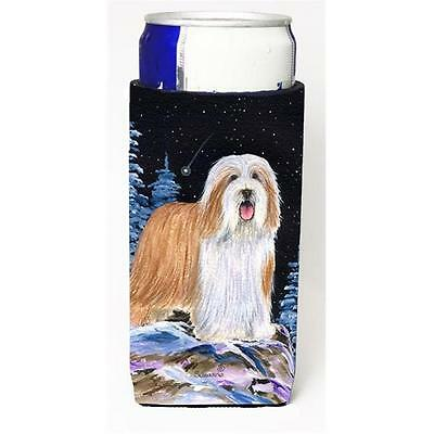Starry Night Bearded Collie Michelob Ultra bottle sleeves for slim cans 12 oz.