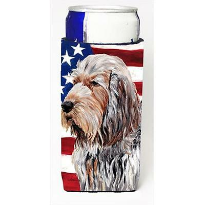 Otterhound With American Flag Usa Michelob Ultra bottle sleeves Slim Cans 12 Oz.