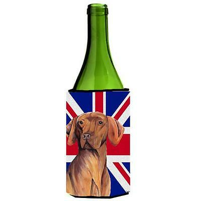 Vizsla With English Union Jack British Flag Wine bottle sleeve Hugger 24 Oz.