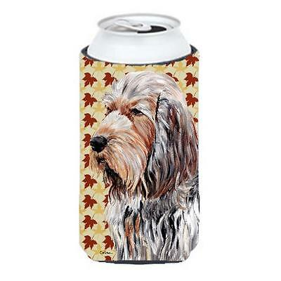 Otterhound Fall Leaves Tall Boy bottle sleeve Hugger 22 To 24 Oz.