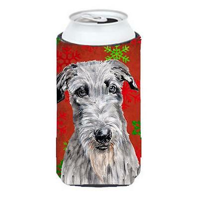Scottish Deerhound Red Snowflakes Holiday Tall Boy bottle sleeve Hugger 22 To...