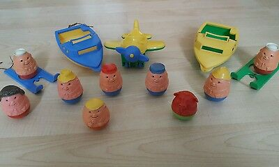 Vintage Airfix Weebles Woble - 14 Items