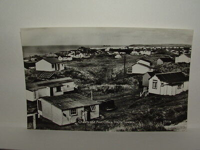 Cornwall - Hayle Towans - Chalets & Post Office - Postcard - Gwithian Godrevy