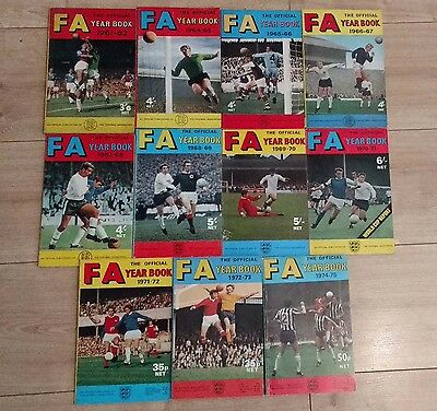 Fa Year Book Joblot ~ Football Annual ~ Official Publication ~ 11 Issues