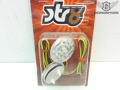 STR8 Roller Motorrad Quad ATV LED Blinker Micro oval orange