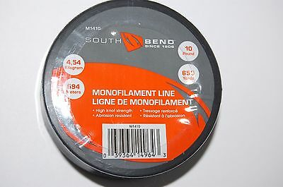 south bend fishing line clear monofilament m1410 high knot strength 10lb 650yds