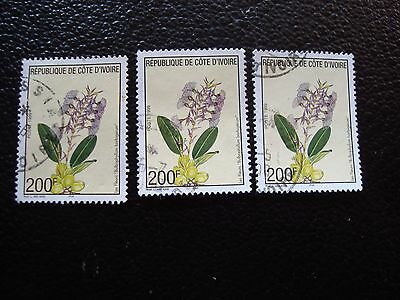 COTE D IVOIRE - timbre yvert/tellier n° 1019 x3 obl (A27) stamp