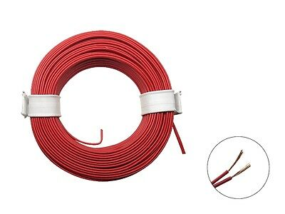 10m Ring Zwillingslitze 2x 0,08mm² rot / rot Litze zweiadrig Doppellitze