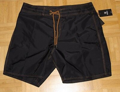"Brixton Surf Short ""Bering Trunk"", black / copper, Gr. 32"