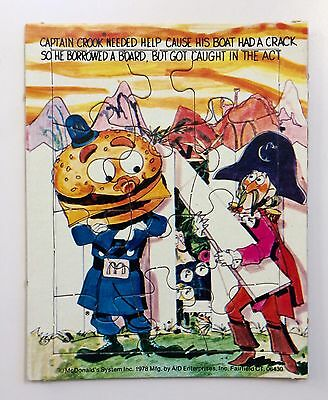 Vintage McDonalds Small Cardboard 12 Piece Puzzle 1978 4x5 Inch New