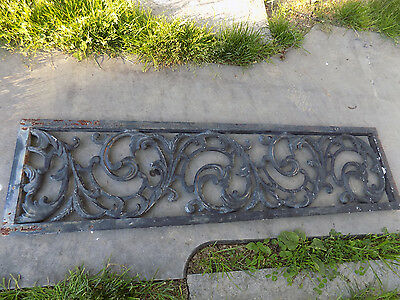 Castiron Grate Vines Design Decorative Architectural