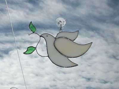 Handmade Stained Glass christmas decoration dove of peace