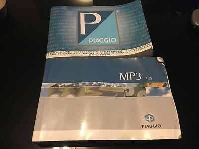 Piaggio MP3 125 Manual And Service Book MP3 125 Hand Book