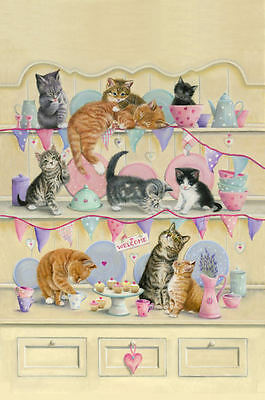 Dresser Kittens Tea Towel - cats
